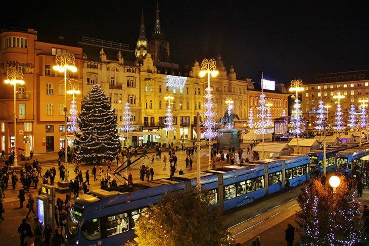 Main Ban Jelacic Square - Zagreb Croatia