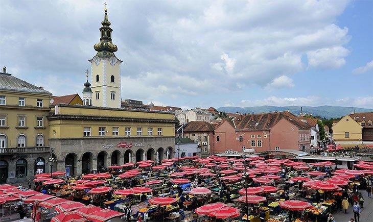 Zagreb Dolac Food Market