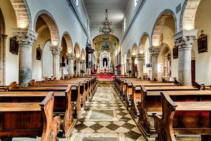 Krk Island cathedral