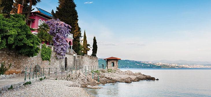 Kvarner Itinerary - Lungomare in Opatija Croatia