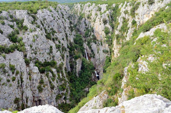 Canyon of Cetina river Croatia