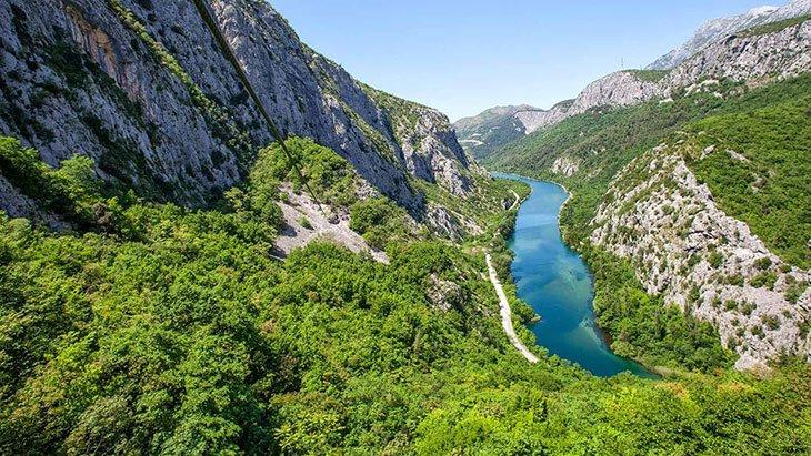 Water of Cetina river Croatia